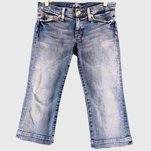 7 For All Man Kind Jeans Cropped Size 29